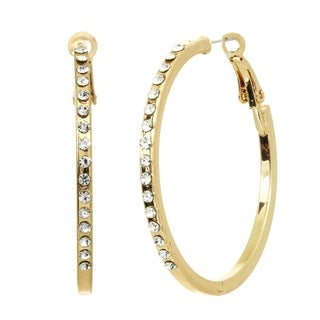 Alexa Starr Rhinestone Hoop Earrings