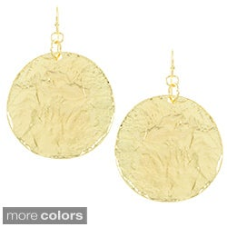 Alexa Starr Textured Disc Earrings