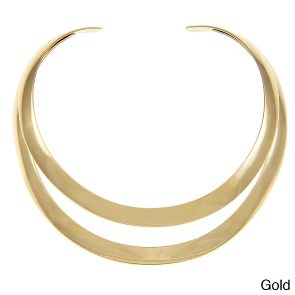 Alexa Starr Silvertone or Goldtone Open Back Two-row Choker