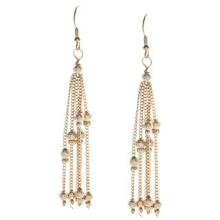 Alexa Starr Goldtone Linear Chain Earrings