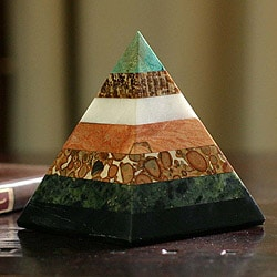 Handcrafted Gemstone 'Empowered' Pyramid (Peru)