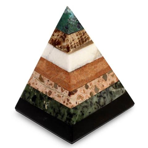 Handmade Gemstone Empowered Pyramid (Peru)