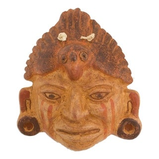 Handmade Ceramic 'Maya Priest' Mask (El Salvador)