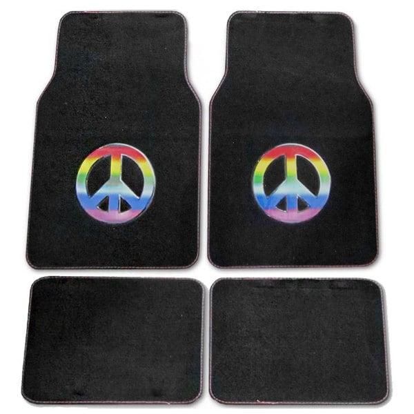 Rainbow Peace 4-piece Car Floor Mats