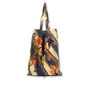 Handmade Cotton 'Jogjakarta Legacy' Foldable Batik Tote Bag (Indonesia)