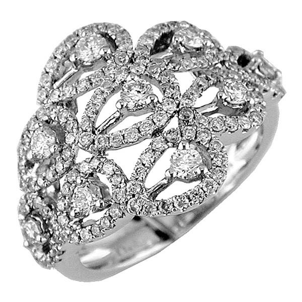 14k White Gold 1 1/4ct TDW Open Teardrop Diamond Ring (G-H, I1-I2)