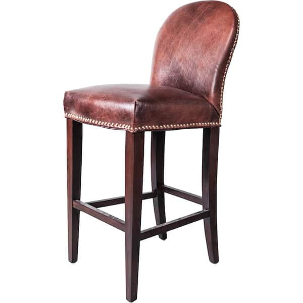 Astounding Shop Belmont Leather Bar Stool Free Shipping Today Unemploymentrelief Wooden Chair Designs For Living Room Unemploymentrelieforg