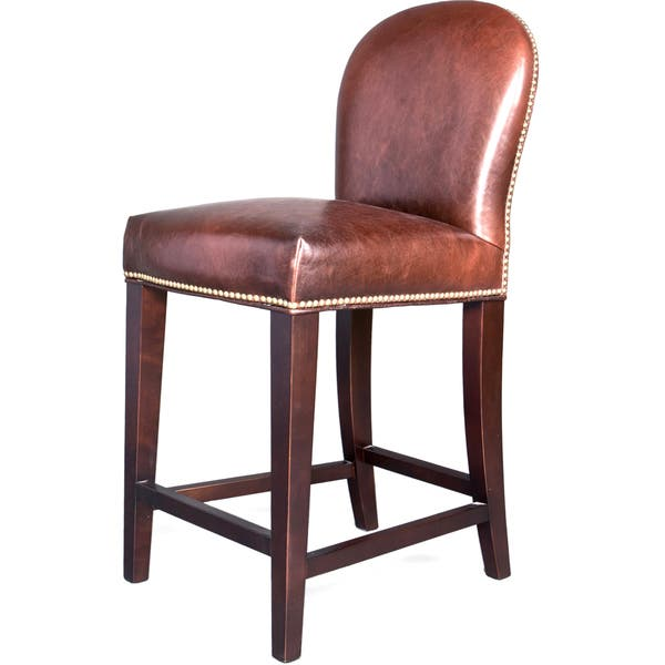 Terrific Shop Belmont Leather Bar Stool Free Shipping Today Unemploymentrelief Wooden Chair Designs For Living Room Unemploymentrelieforg