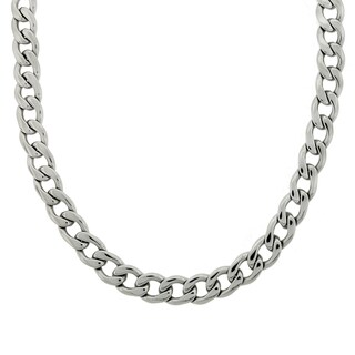 Stainless Steel 14mm Thick Curb Chain Necklace (22-inch)