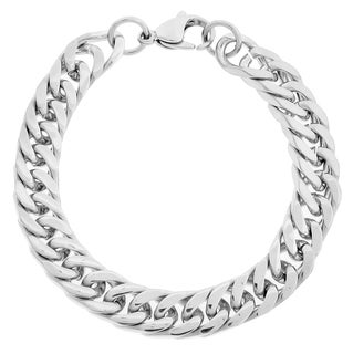 Stainless Steel Men's 10-mm Curb Link Bracelet