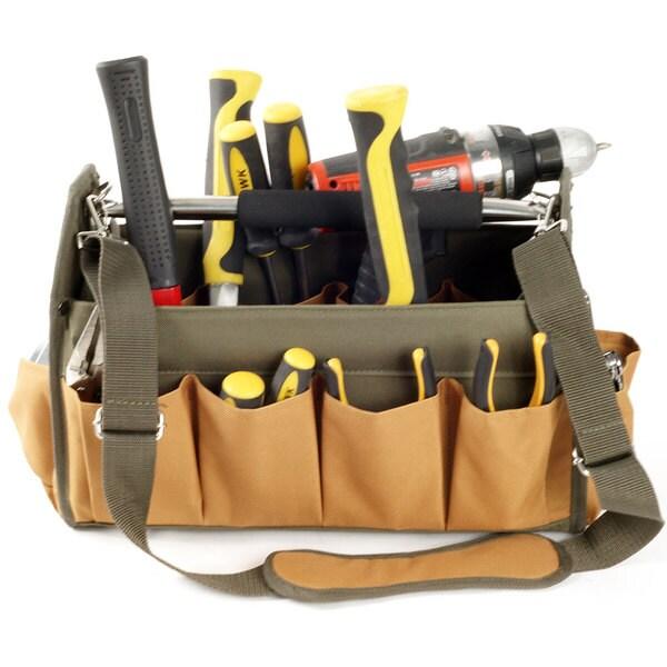 Stalwart Rugged Nylon 14-pocket Tool Bag
