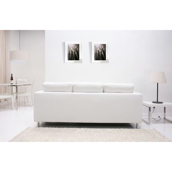 Strange Shop Detroit White Convertible Sectional Sofa And Ottoman Dailytribune Chair Design For Home Dailytribuneorg