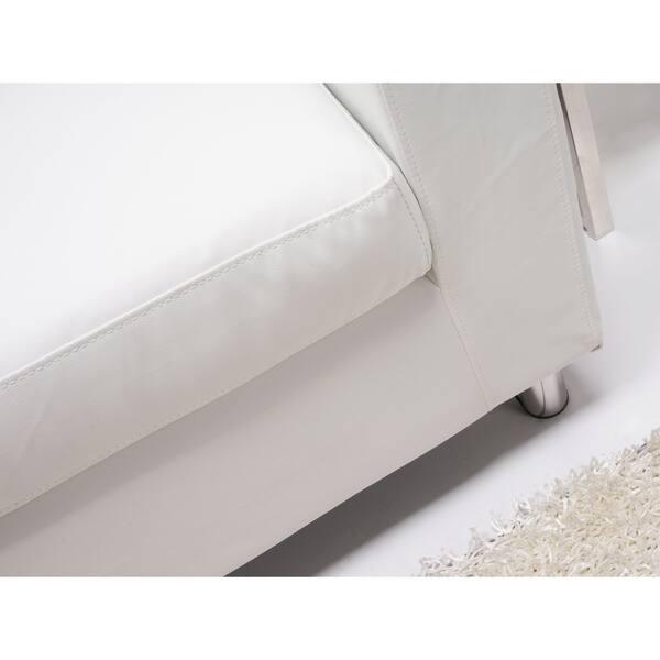 Fine Shop Detroit White Convertible Sectional Sofa And Ottoman Dailytribune Chair Design For Home Dailytribuneorg