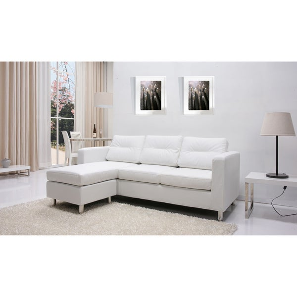 white sectional sofa decorating ideas leather cheap for sale convertible ottoman set