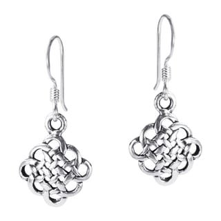 Handmade Cute Celtic Knot .925 Silver Dangle Earrings (Thailand)