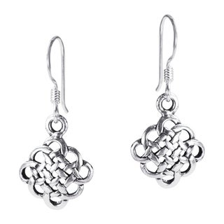Handmade Alluring Celtic Knot .925 Silver Dangle Earrings (Thailand)