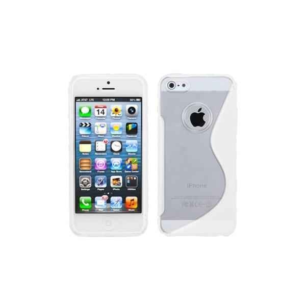 INSTEN S-Line TPU Gel Skin Case Cover for Apple iPhone 5