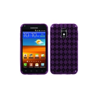 INSTEN Purple Argyle Candy Case Cover for Samsung Epic 4G Touch/ Galaxy S II