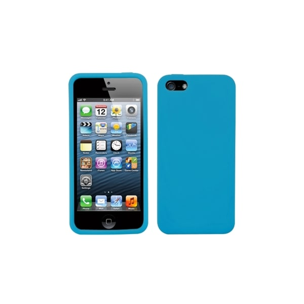INSTEN Solid Tropical Teal Soft Silicone Rubber Gel Phone Case Cover for Apple iPhone 5