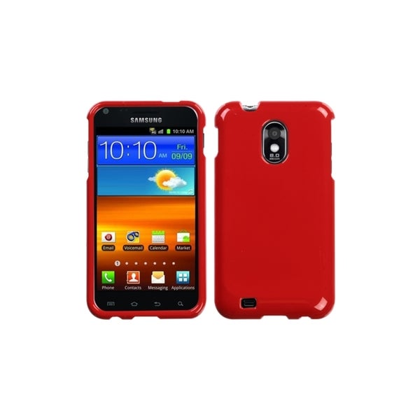 INSTEN Solid Flaming Red Case Cover for Samsung Epic 4G Touch/ Galaxy S II