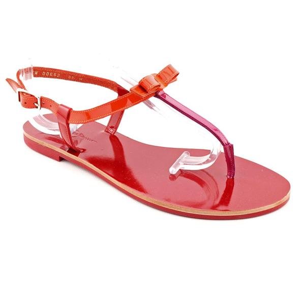 Salvatore Ferragamo Women's 'My Summer' Patent Leather Sandals (Size 8.5)