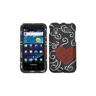 INSTEN Curve Heart Diamante Phone Case Cover for Samsung i927 Captivate Glide