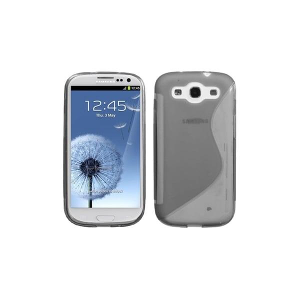 MYBAT Smoke S Shape TPU Gel Skin Cover Case for Samsung© Galaxy S3