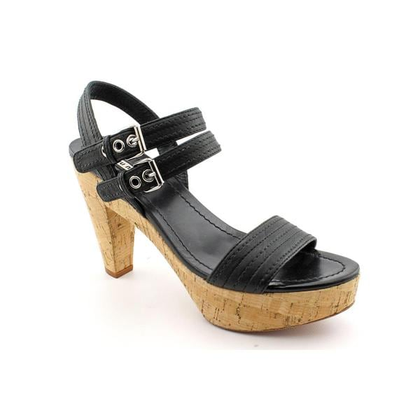 Miu Miu Women's 'Nappa Washed 14' Leather Sandals