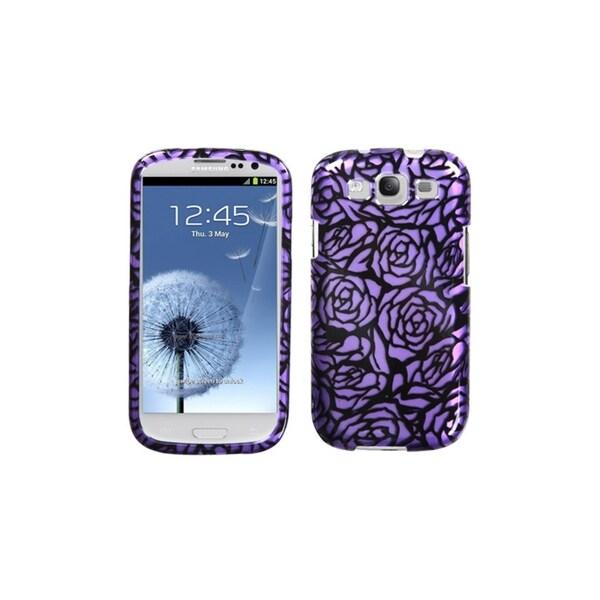 MYBAT Rose Purple/ Black Snap-On Cover Case for Samsung? Galaxy S3