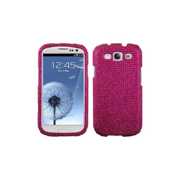 MYBAT Hot Pink Diamond Back Bling Cover Case for Samsung Galaxy S3