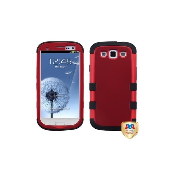 INSTEN Titanium Red/ Black TUFF Hybrid Cover for Samsung Galaxy S3