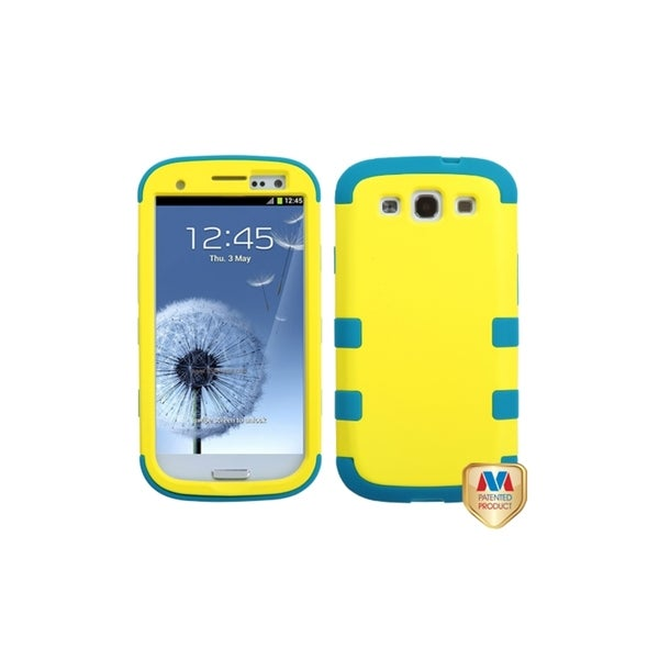 MYBAT Hard Yellow/ Teal TUFF Hybrid Case for Samsung© Galaxy S3