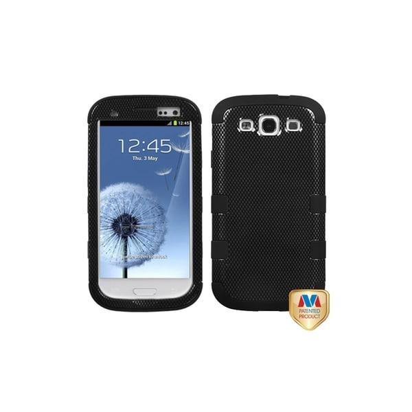 INSTEN Carbon Fiber Black TUFF Hybrid Cover Phone Case Cover for Samsung Galaxy S3