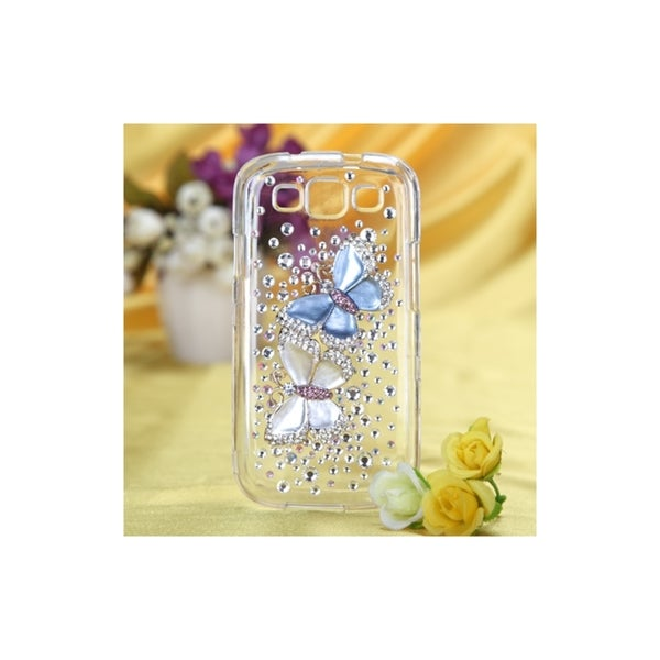 MYBAT Butterfly Lovers Crystal 3D Bling Case for Samsung Galaxy S3