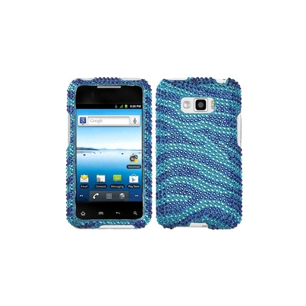 MYBAT Zebra Baby Blue/ Blue Diamond Case for LG LS696 Optimus Elite