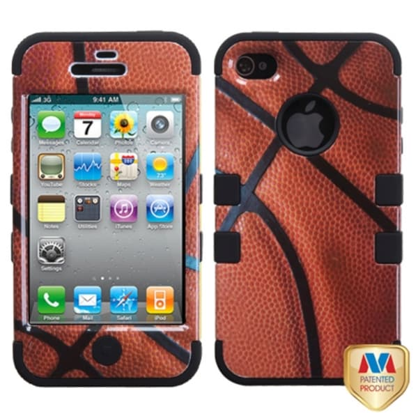 INSTEN Basketball-Sports TUFF Hybrid Phone Case Cover for Apple iPhone 4/ 4S