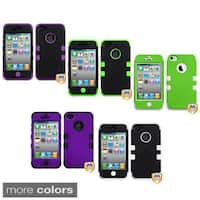INSTEN Apple iPhone 4/ 4S Colorful Dual Layer High Impact TUFF Hybrid Phone Case Cover