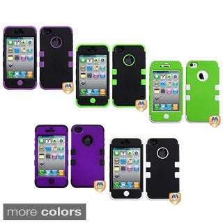 INSTEN Apple iPhone 4/ 4S Colorful Dual Layer High Impact TUFF Hybrid Phone Case Cover (2 options available)