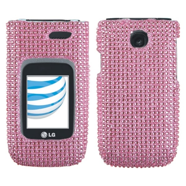 MYBAT Pink Diamante Protector Case Cover Diamante 2.0 for LG A340