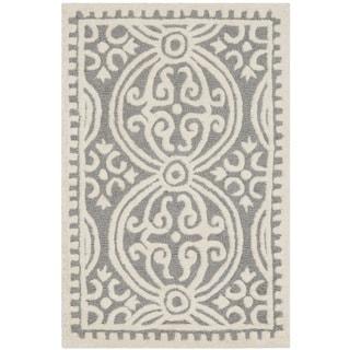 "Safavieh Handmade Cambridge Moroccan Silver/ Ivory Rug (2'6"" x 4')"