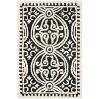 Safavieh Handmade Cambridge Moroccan Black/ Ivory Rug (2' x 3') - 2' x 3'