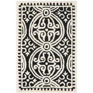 Safavieh Handmade Cambridge Moroccan Black/ Ivory Rug (2' x 3')