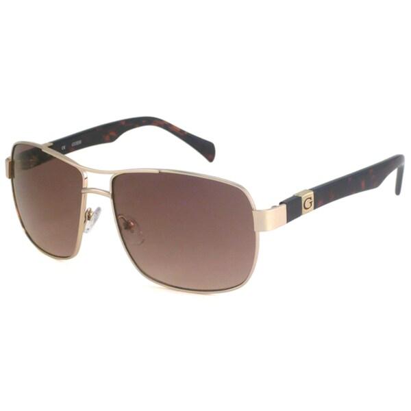 Guess Men's GU6706 Metal Aviator Sunglasses