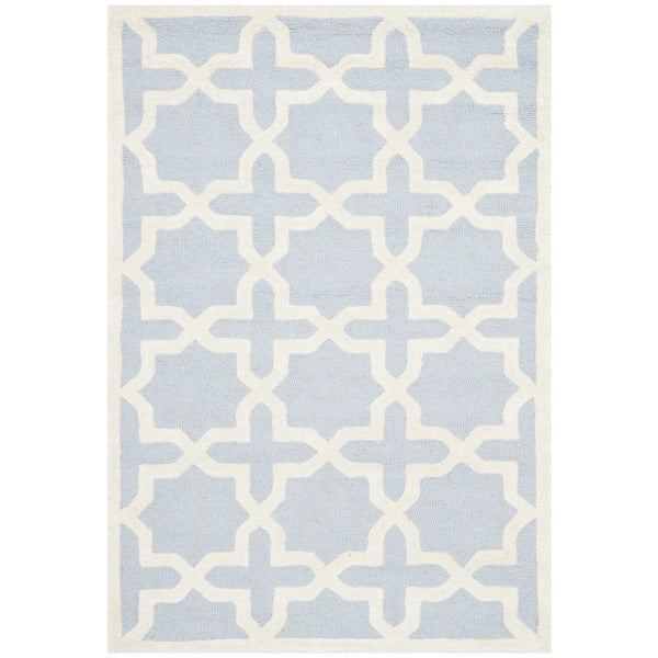 Safavieh Handmade Cambridge Moroccan Light Blue Wool Area Rug (3' x 5')