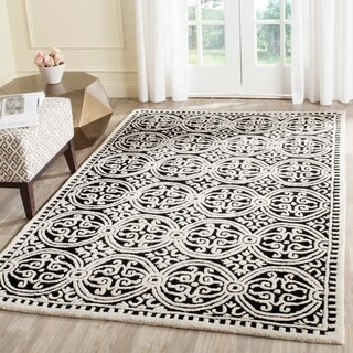 Safavieh Handmade Cambridge Moroccan Black/ Ivory Rug (5' x 8') - 5' x 8'