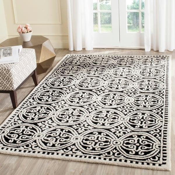 Shop Safavieh Handmade Cambridge Moroccan Black/ Ivory Rug