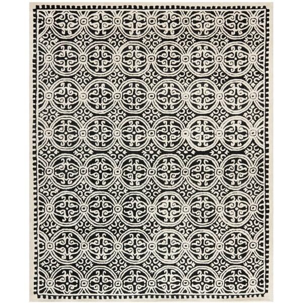 Safavieh Handmade Cambridge Moroccan Black/ Ivory Rug