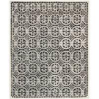 Safavieh Handmade Cambridge Moroccan Black/ Ivory Rug (6' x 9')