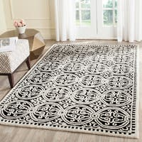 Safavieh Handmade Cambridge Moroccan Black/ Ivory Rug - 8' x 10'