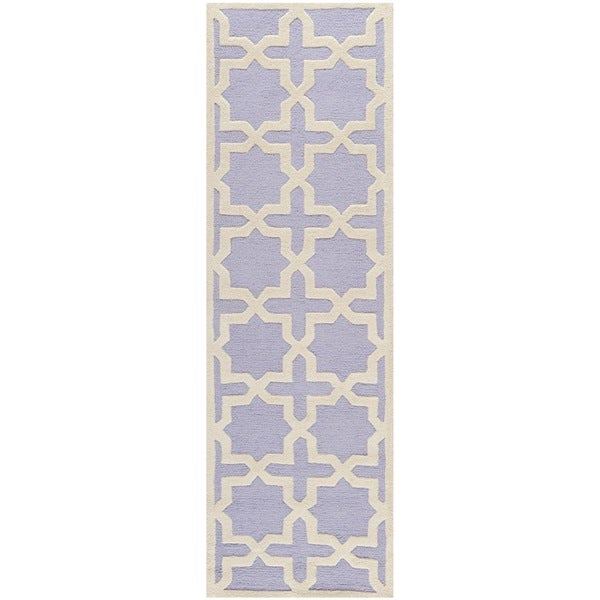 Safavieh Handmade Moroccan Cambridge Lavender Wool Rug (2'6 x 10')